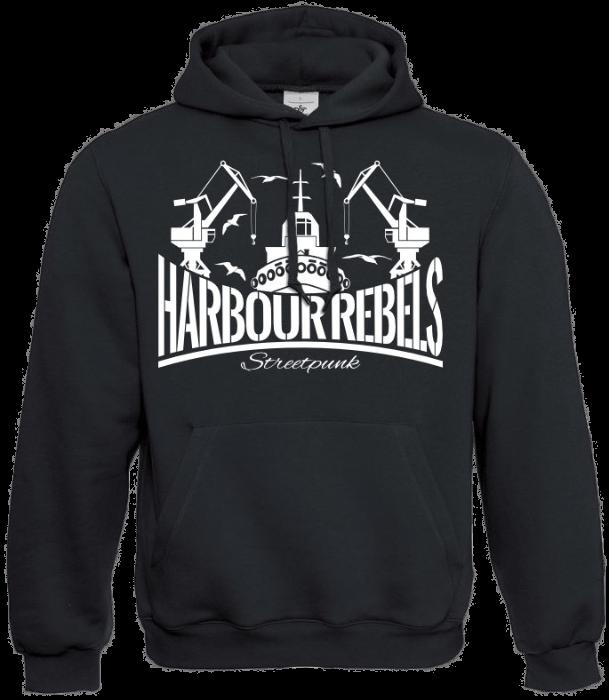 Harbour Rebels Hoodie Hafen-Logo schwarz