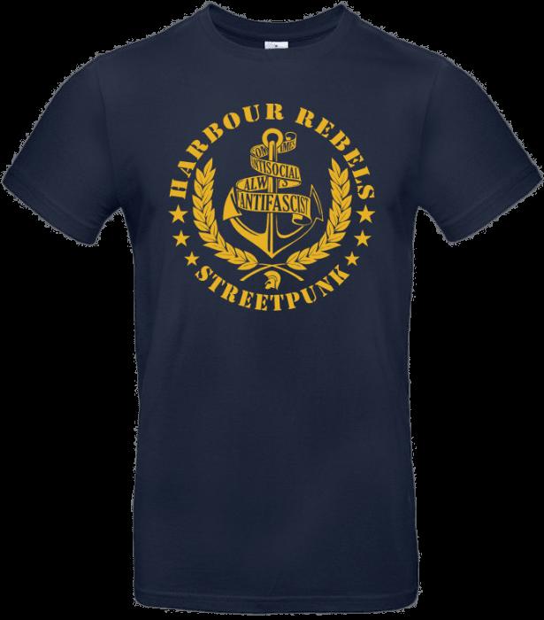 Harbour Rebels T-Shirt Antifascist-Logo blau