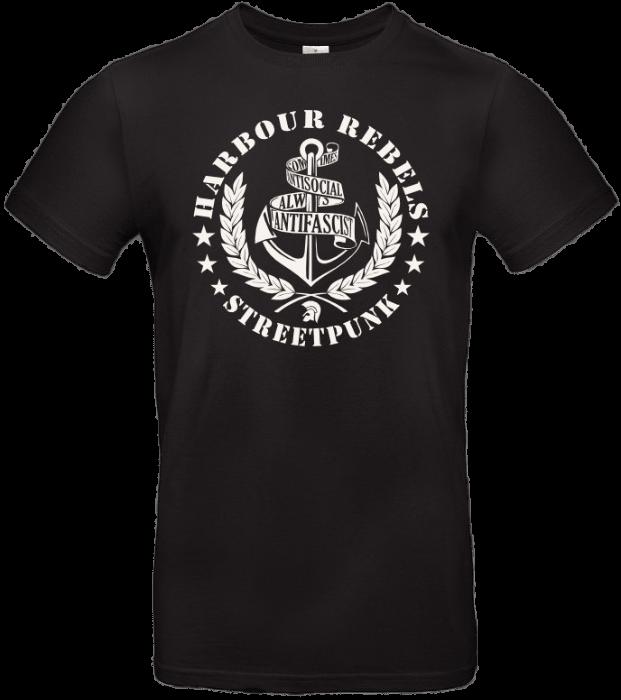 Harbour Rebels T-Shirt Antifascist-Logo schwarz