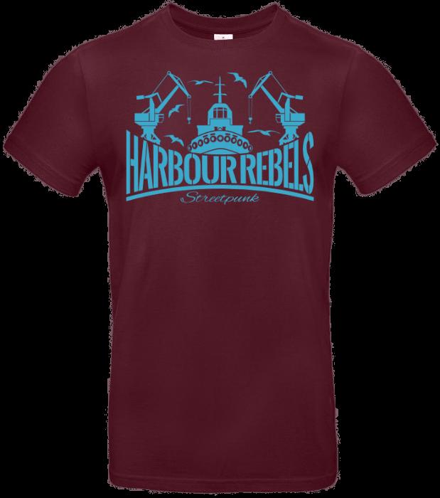 Harbour Rebels T-Shirt Hafen-Logo Burgundy