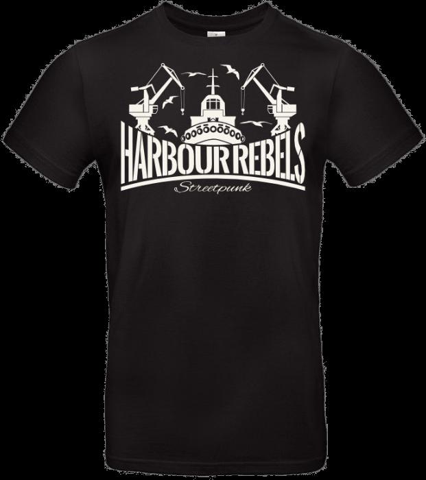 Harbour Rebels T-Shirt Hafen-Logo schwarz