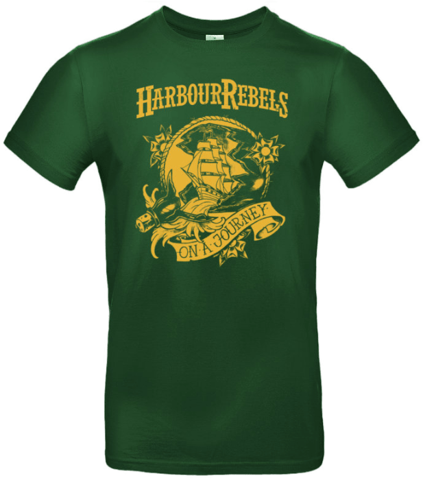 "Harbour Rebels T-Shirt ""On A Journey"" grün"
